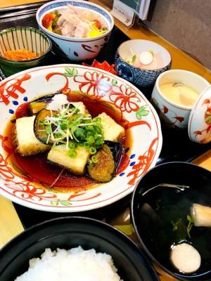 秋茄子と豆腐の揚げ出し定食
